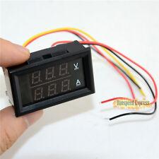 DC 100V 100A Dual LED Digital Display Ammeter Voltmeter LCD Panel Amp Volt Gauge