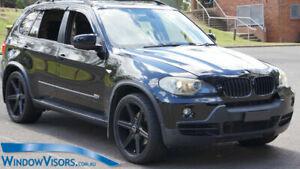 Window Visors WeatherShields 4pcs weather shields for BMW X5 E70 2007-2013
