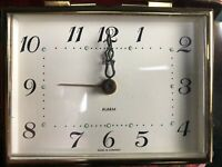 Vintage  Elgin Red Case Travel Alarm Clock Made in Germany NOT TESTED