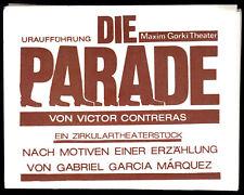 Theaterprogramm, Maxim Gorki Theater, Victor Contreras, Die Parade, 1988