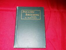 "Vintage 1912 Hardcover Book ""Poultry Breeding"" by Miller Purvis"