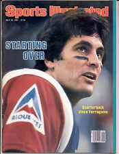 Sports Illustrated VINCE FERRAGAMO Montreal Alouettes Nebraska Football NO LABEL