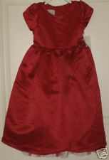 Macys Red Marmellata Party Dress Special Ocassion Girls 4T Pageant Sateen Church