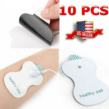 10 Pcs Electrode Pads Snap On Replacement For Tens Unit Therapy Massager Health