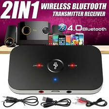 More details for 2 in 1 bluetooth wireless audio transmitter receiver hifi music adapter aux rca