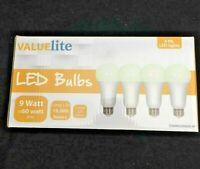 LED Light Bulbs 60 Watt Equivalent E26 A19 800lm 9W SOFT WHITE (4 pack)