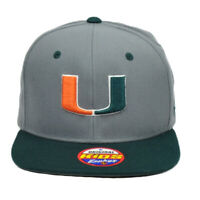 NCAA Zephyr Miami Hurricanes Canes Youth Kids Gray Flat Bill Snapback Hat Cap