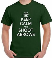 Keep Calm And Shoot Arrows - Mens Funny Archery T-Shirt Archer Bow Target