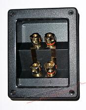 MORSETTIERA ALTOPARLANTI BI-WIRING ABS 24k - vaschetta morsetti diffusori