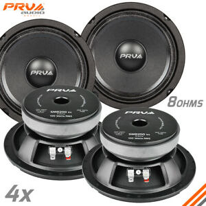 """4x PRV Audio 6MB200 6.5"""" Car Speakers 8 Ohms 200 Watts LOUD PRO Audio Midbass"""