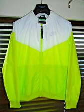 Nike Windrunner Windbreaker Windcheater White/Green Hooded Nylon Jacket Size XL