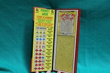 Gambling Nickel Pocket Jack Book Type Punch Board Trade Stimulator