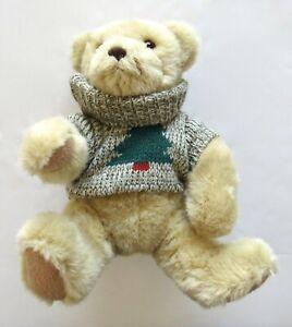 "Hallmark Cards Trevor Teddy Bear Holiday Christmas Tree Sweater Plush 12"""