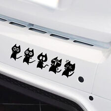 14x11cm Sticker Personnalisation Voiture Film Autocollant / Mignon Chats / Noir