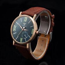 Men's Date Stainless Steel Sport Fashion Leather Noctilucent Quartz Wrist Watch