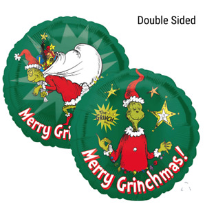"""Christmas Grinch 18"""" Double Sided Foil Balloon - Pack of 2"""