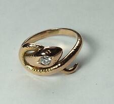 Diamant Schlangen Damenring .585 Rotgold  Gr. 53        #  G 3981
