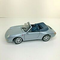 Maisto Diecast Car 1/18 Porsche 911 Carrera Cabriolet 1994 Metallic Blue