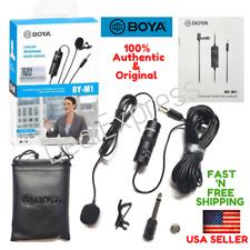 BOYA BY-M1 ORIGINAL Omni Lavalier Microphone for smart Phones,DSLR,PC/USA Seller