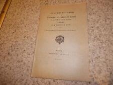 1914.Sources manuscrites histoire amérique latine .Desdevises du Dezert (envoi)