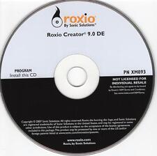 Sonic Roxio Creator 9.0 DE Burn Copy & Label Software CD