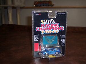RACING CHAMPIONS- 1/64 - 1996 - PONTIAC FIREBIRD  - BLUE - MINT EDITION -NEW