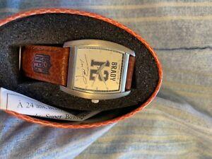 tom brady signed watch never worn nfl licensed
