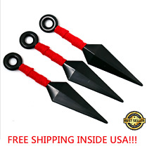 3PCS Anime Naruto Plastic Ninja Weapons Red Kunai Cosplay Costume Accessory Toy
