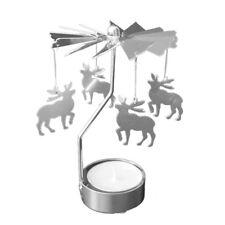 Rotating Spinning Carrousel Tea Light Candle Holder Center Wedding Decoration_GG Small Deer