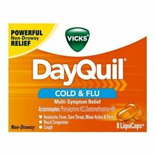 Vicks DayQuil Cold & Flu Multi-Symptom Relief 8 LiquiCaps