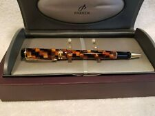 Parker Duofold Amber Check Rollerball