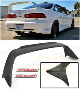 MUGEN Style Rear Lid Wing Spoiler & Red Emblem Pair For 94-01 Acura Integra DC2