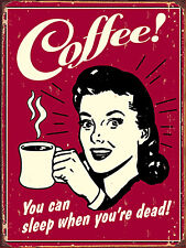 """Coffee, Retro metal Sign/Plaque, Gift, Home, Garage 10"""" x 8"""" Large"""