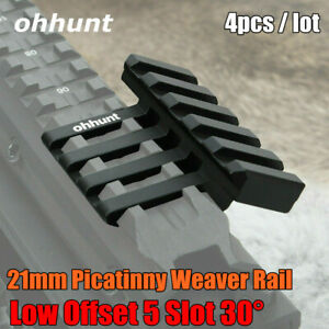 ohhunt Aluminium Low 5 Slot 30 Degree Offset Picatinny Weaver Rail Scope Mount