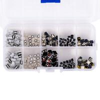 250Pcs/Set Tactile Push Button Switch Car Remote Key Button Microswitch Kit Box