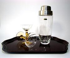 WMF Bicchiere da cocktail Shaker Silver Plated Glass Barware Mid Century Modern 1950s