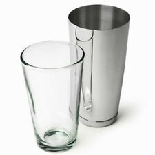 American Style Boston Cocktail Shaker Set 2 Piece Stainless Steel / Glass