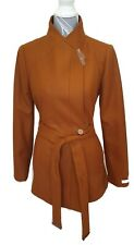 Ted Baker Drytaa Tan Belted Short Wrap Coat RRP £289 Size 12 Cashmere Blend