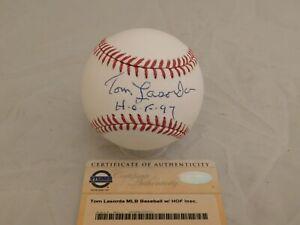 TOMMY LASORDA Signed / Autographed OML Baseball HOF 97 Inscribed Steiner COA