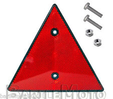 Triangolo / Catadiottro Triangolare Rosso + Perni Carrello Appendice - Rimorchi