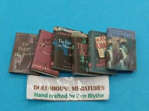 1:12 Scale Book , 6 x Leslie Chambers (THE SAINT) Novels, Crafted by Ken Blythe