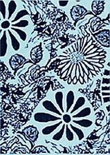 Floral Flower Design ATC Unmounted Rubber Stamp Deep Etched for Paper & Clay Art