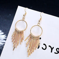 New Fashion Women Bohemian Long Tassel Fringe Drop Dangle Earrings Jewelry