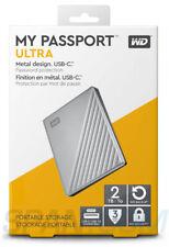 OB Western Digital My Passport ULTRA 2TB Portable External HDD Silver WDBC3C0020