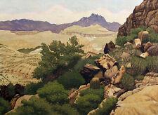"Gordon Mortensen ""Near Tortilla Flat"" Hand Signed Ltd Edition Woodcut Art, OBO"