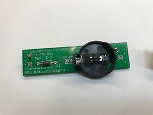 Frank's Battery Board CR2032 for Bally/Stern MPU 100/200 pinballs. BRAND NEW!