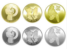 6X Sexy Girl Model Pin Up Heads Tails Good Luck Collectible Challenge Coin US