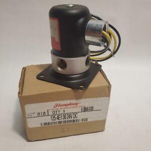Humphrey 1254E136 24 VDC Solenoid valve NEW 125 4E1 36