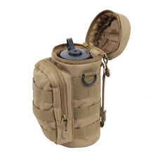Coyote Brown Tan MOLLE Hip Waist Backpack Tactical Hiking Water Bottle Pouch