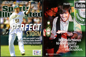 Dallas Braden SIGNED Full Sports Illustrated Mag Oakland A's PSA/DNA AUTOGRAPHED